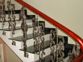 Some beautiful cast aluminum stair-rail